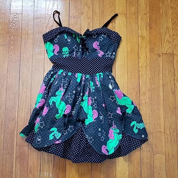 5ecbc5f376673 Hell Bunny Dresses & Skirts - Hell Bunny Zombie Unicorn Mini Dress: Small